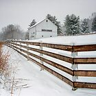 Winter Barn and Fence by KellyHeaton