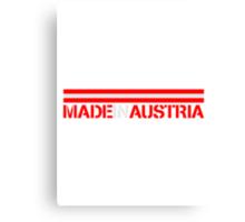 Made In Austria Logo Design Canvas Print