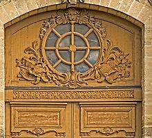 Door Artwork At Place de L'Abbe Charpentier - Close-Up - 2 @ by © Hany G. Jadaa © Prince John Photography