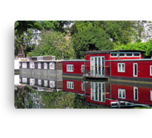 On Regent Canal Canvas Print