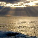 light burst, ocean sunrise by Glen Johnson