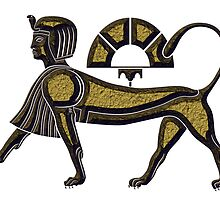 Sphinx - mythical creature of ancient Egypt by siloto