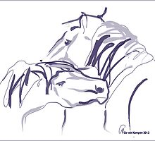 Horses together 10 by Go van Kampen