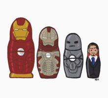 Iron Man matryoshka dolls  by HollieBallard