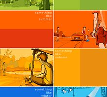 Something Like... series Seasons poster by Andreas Bell
