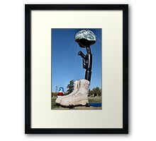 Battlecross Memorial Framed Print