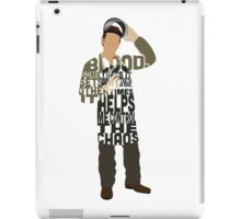 Michael Hall in Dexter Typography Design iPad Case/Skin