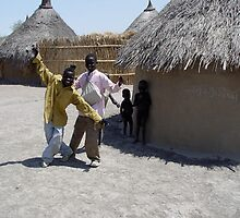 Shilluk boys near their Tukel by jvoweaver