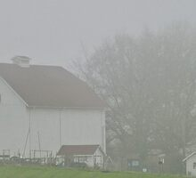 foggy farmstead by Bruce  Dickson