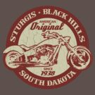 Sturgis, South Dakota (Vintage Distressed Design) by robotface