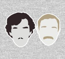 Moustache Detectives - Minus text. by Beth Lewis