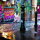 Colour on a rainy day in Hosier Lane by melbournedesign