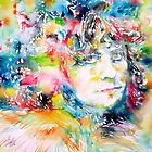 MARC BOLAN - watercolor portrait by lautir