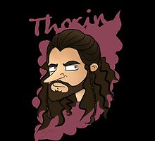 iPhone & Samsung Galaxy Cartoon Case - Thorin [black] by sebabybaby