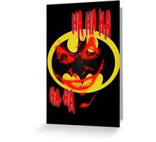 joker and batman Greeting Card