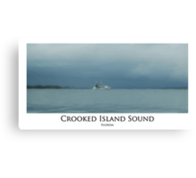Crooked Island Sound, Florida - Digital Painting Canvas Print