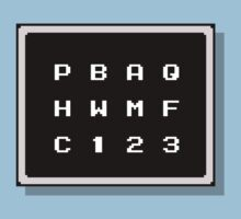 Mega Man 2 - Password Confirmation by carnivean
