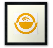 Oppressive Eye (Gold) Framed Print