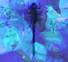 Blue Dragonfly by Sharon Cummings by Sharon Cummings
