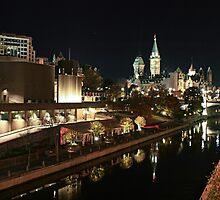 Rideau Canal Reflections with the Ottawa Skyline by ktsPhotography