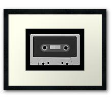 Retro Vintage Cassette Tape - Cool Music T Shirt Prints Stickers Framed Print