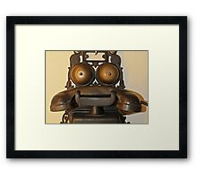 Vintage Telephone Framed Print