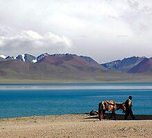 Lake Scene in Tibet by danpanzarella