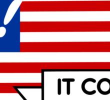 VOTE! Party-Neutral Participation Encouragement Sticker