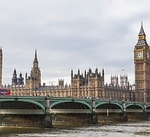 London Big Ben and Parliament River Thames by Shunting2