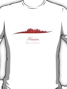 Houston skyline in red T-Shirt