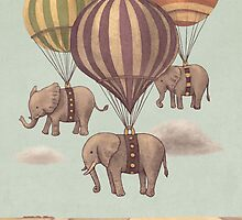 Highflying Elephants by Terry  Fan