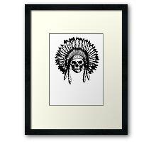 Native American Skull Framed Print