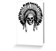 Native American Skull Greeting Card