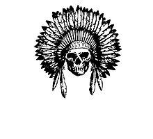 Native American Skull Photographic Print