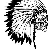 Native American Skull by kwg2200