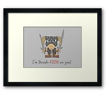 Skyrim Valentines: I'm Dovah-Keen on You Framed Print
