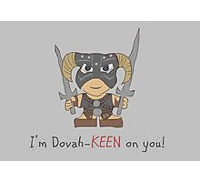 Skyrim Valentines: I'm Dovah-Keen on You Photographic Print