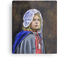 Girl in English civil war clothing Metal Print