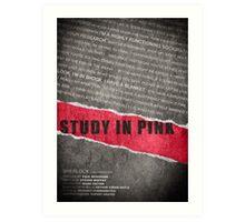 A Study in Pink fan poster Art Print