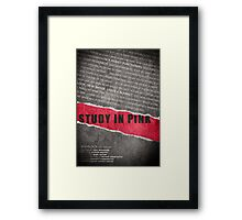 A Study in Pink fan poster Framed Print