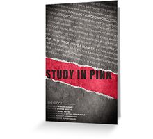 A Study in Pink fan poster Greeting Card