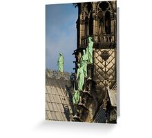 Surfing Notre Dame Greeting Card