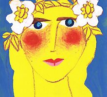 Blue-eyed Maiden with Flaxen hair by Rosemary Brown