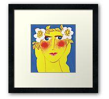Blue-eyed Maiden with Flaxen hair Framed Print