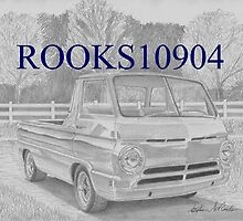 Dodge A-100 Van Pickup TRUCK ART PRINT by rooks10904