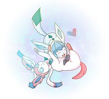 Glaceon and Sylveon by Samantha Royle