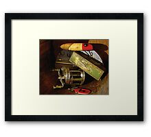 Grandpas Fishing Memories Framed Print