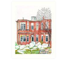Eleanors House Ayr Scotland Snow scene 1 Art Print