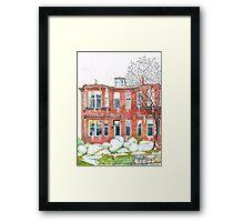 Eleanors House Ayr Scotland Snow scene 1 Framed Print