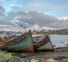 Wrecked Boats on the Isle of Mull, Scotland by KarenMcDonald